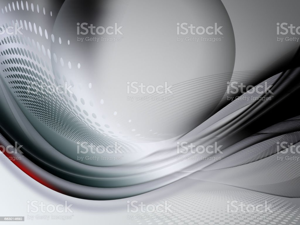 Gray Technology abstract curved lines background stock photo