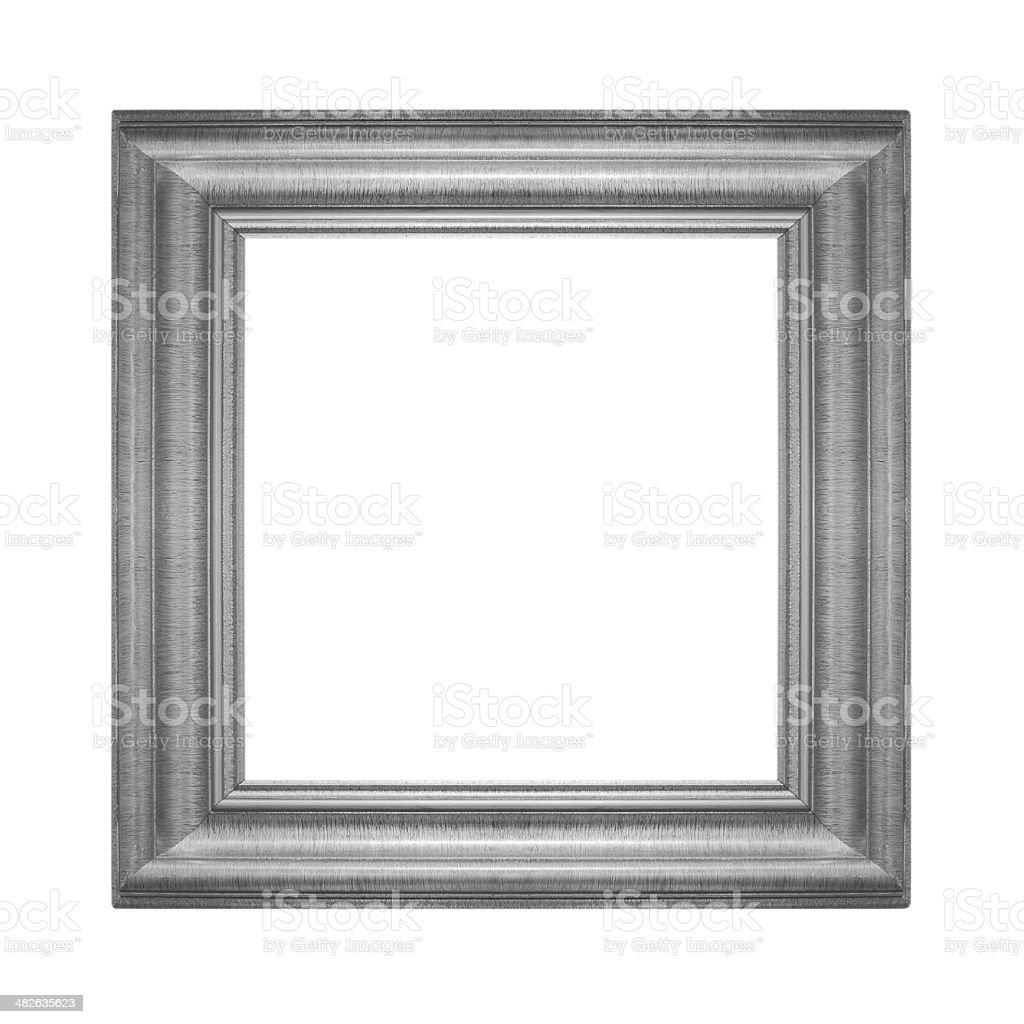 Gray vintage frame isolated on white background stock photo