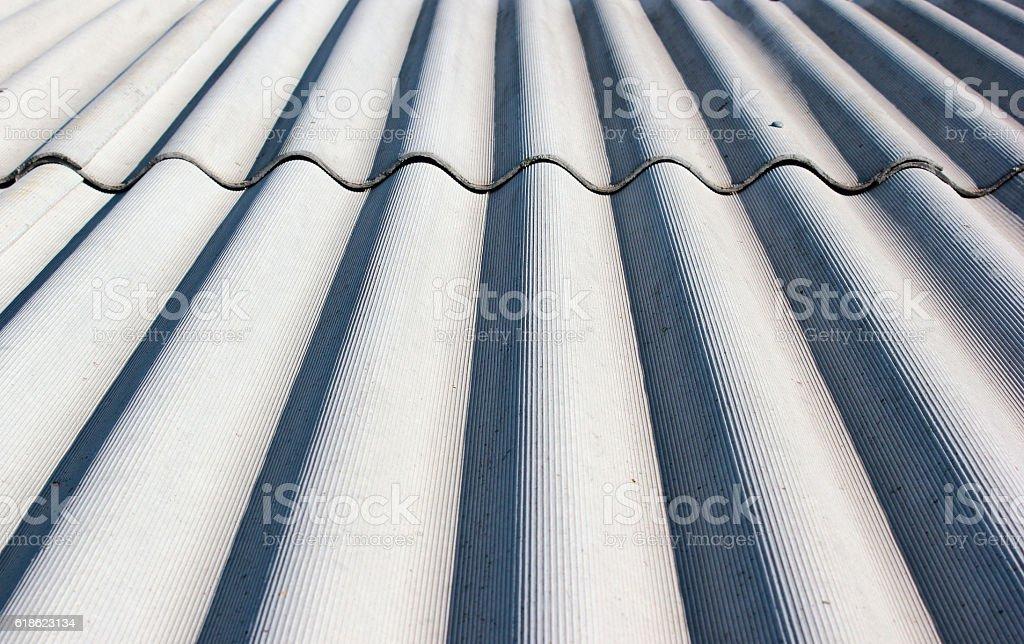 Gray wavy slate roof pattern background stock photo