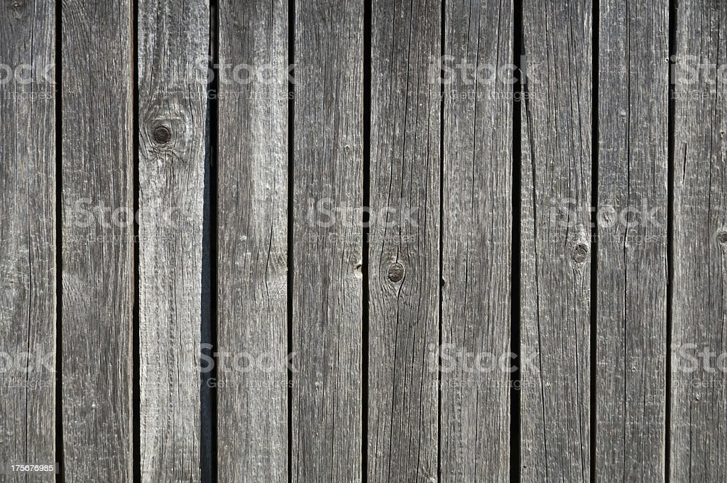 Gray weathered wooden wall stock photo