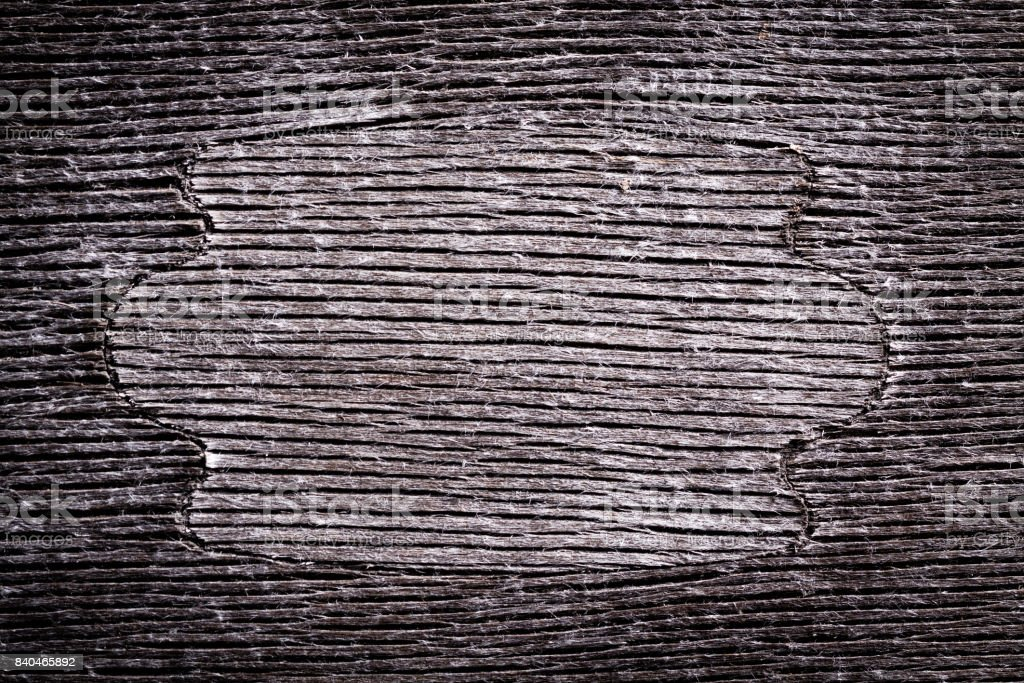 Gray wooden background with densely cracked surface texture. stock photo