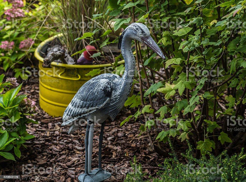 Gray-herons in the small-garden stock photo