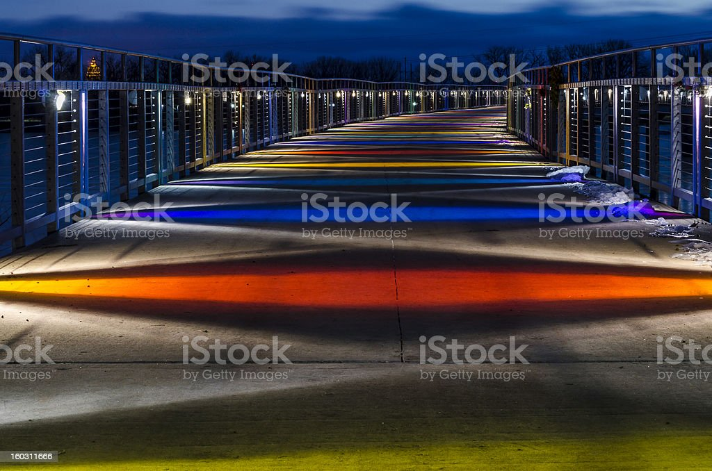 Gray's Lake Bridge royalty-free stock photo