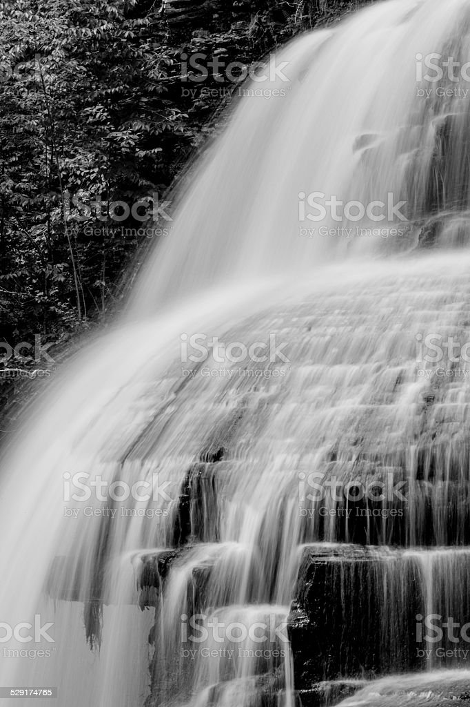 Grayscale Falls stock photo