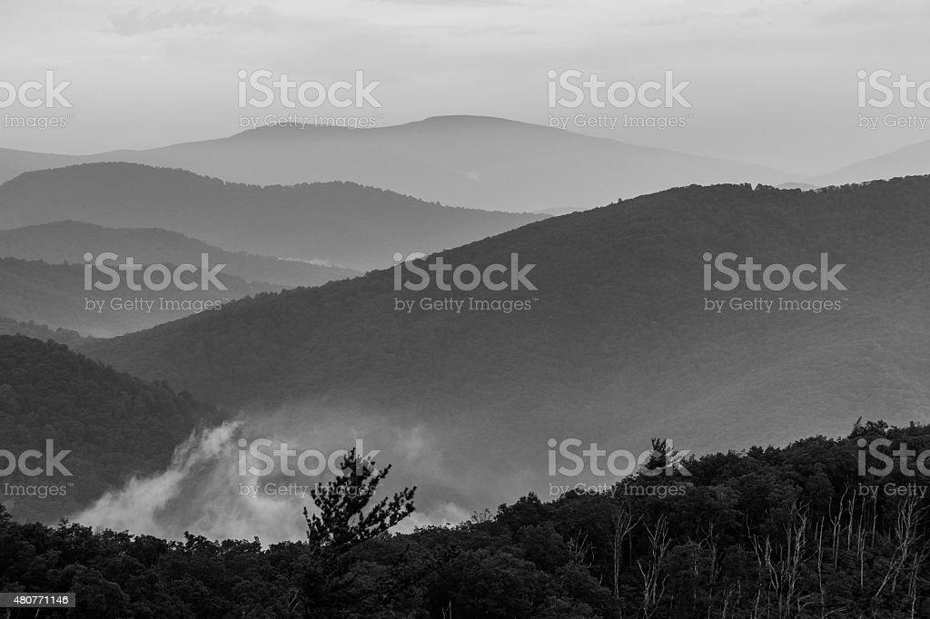 Grayscale Hills stock photo
