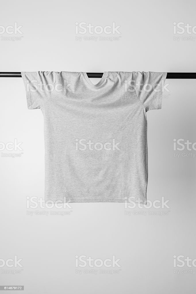 GrayT-Shirt Mock-up stock photo