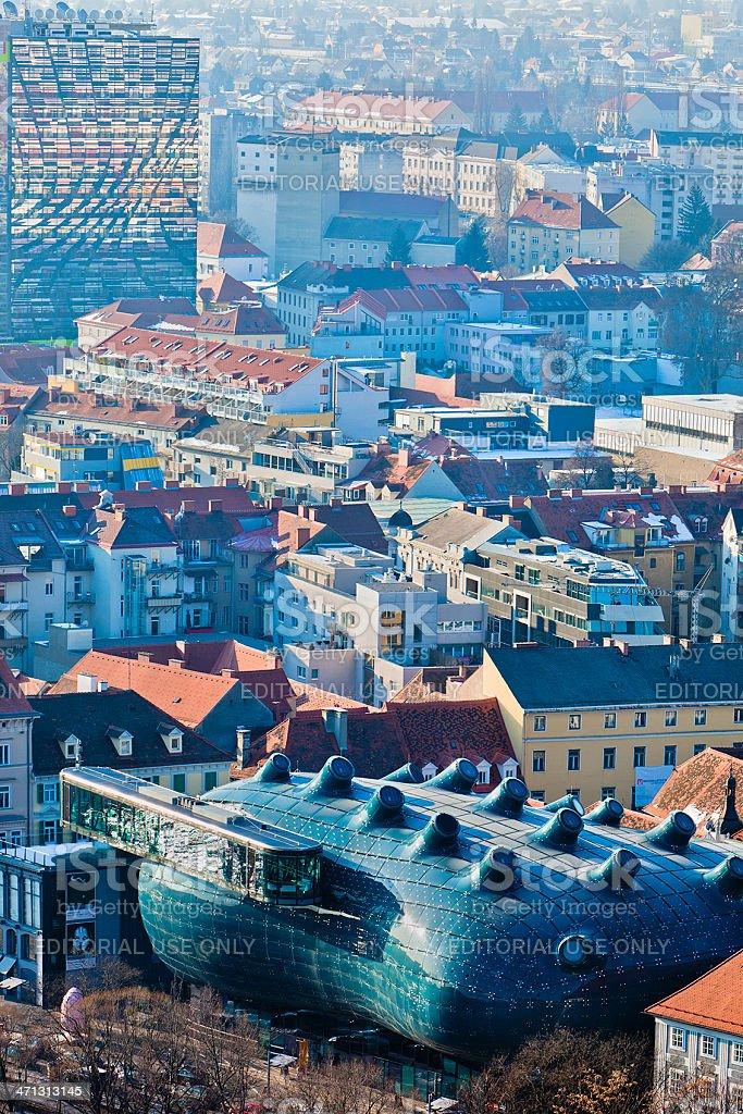 Graz Cityscape, Austria royalty-free stock photo