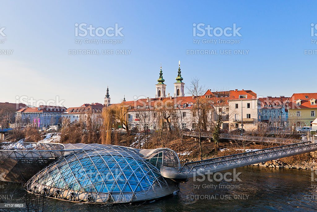 Graz Cityscape, Austria stock photo