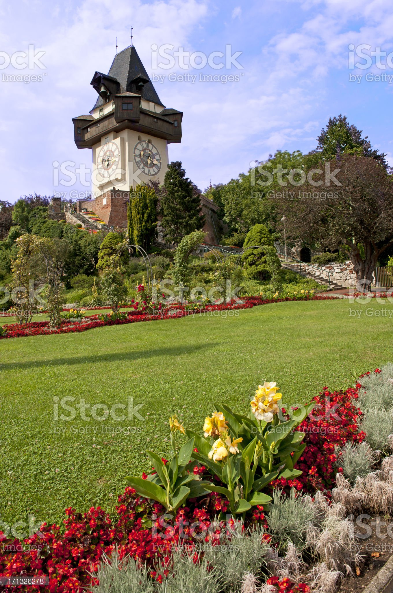 Graz Clock Tower royalty-free stock photo