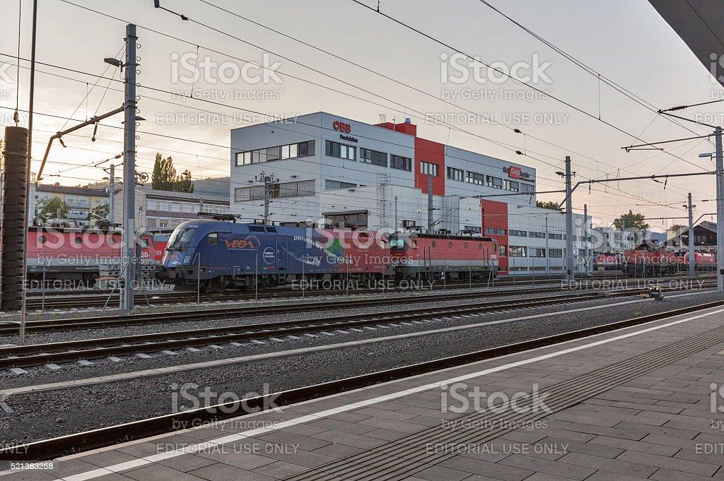 Graz Hauptbahnhof railway station, Austria. stock photo