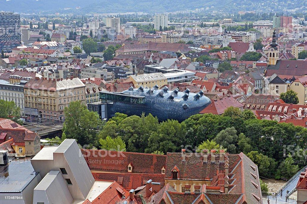 Graz skyline royalty-free stock photo