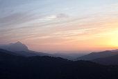 Grazalmea and Nieves  Mountains sunset in Spain   -  Genalguacil