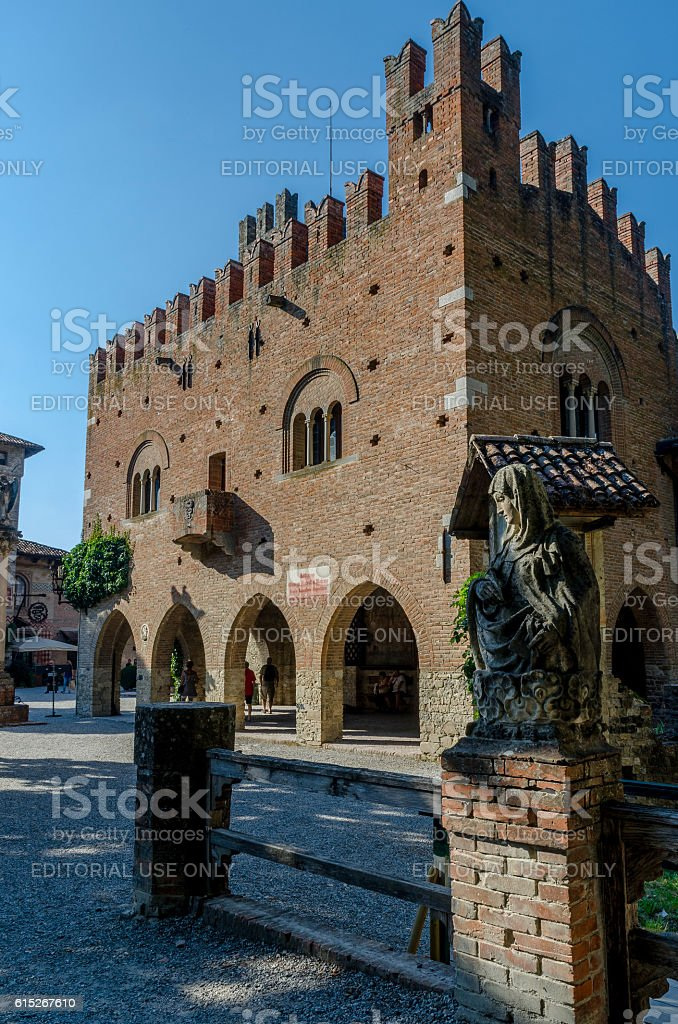 Grazzano Visconti town hall stock photo