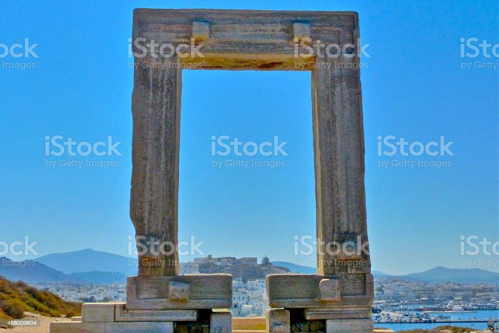 Gr?ce, Naxos, Temple Apollon stock photo