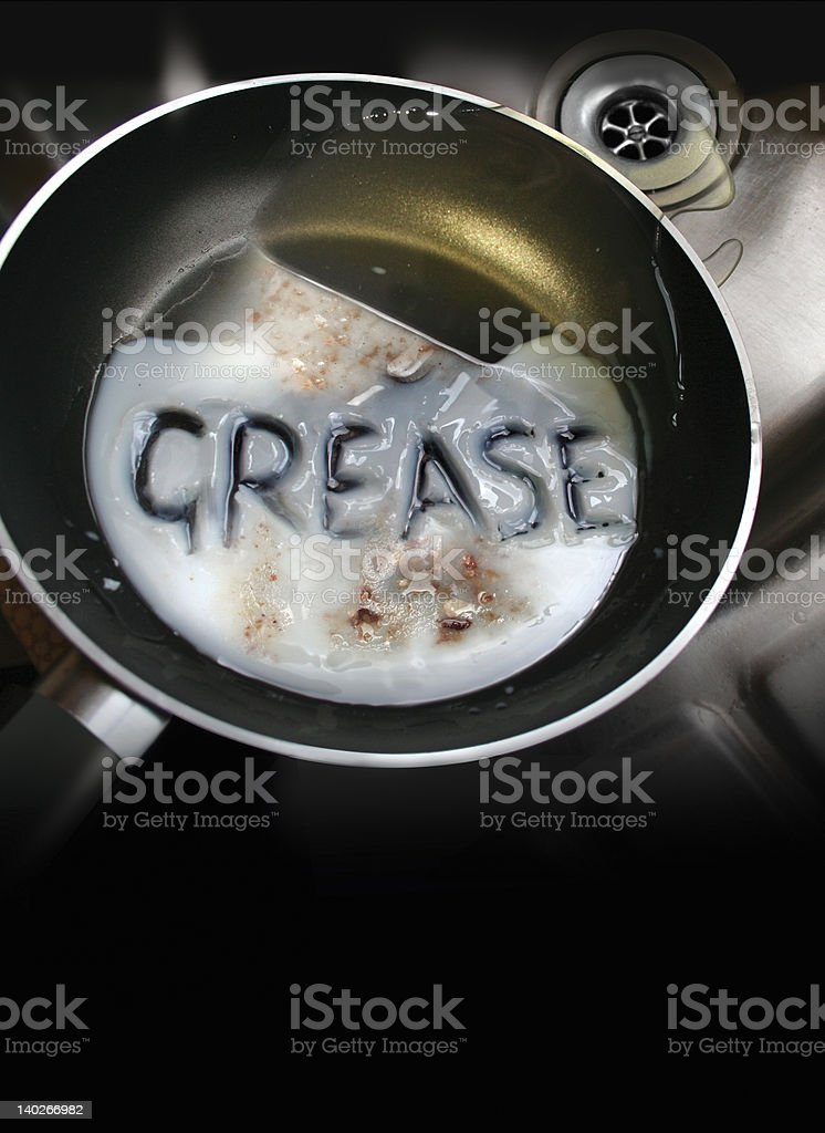 Grease Pan stock photo