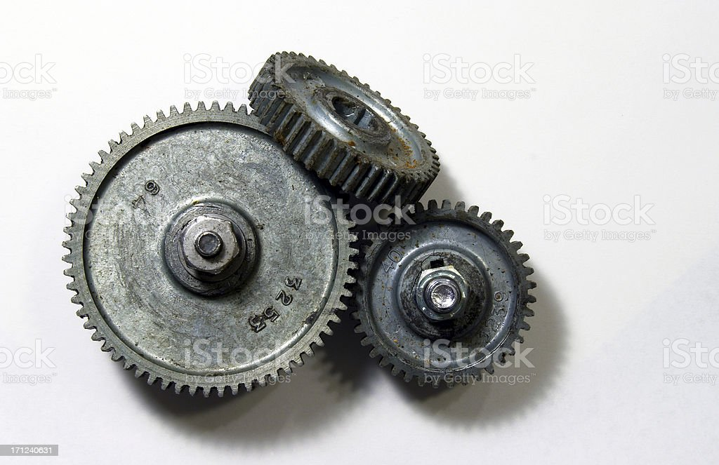 Greasy Gear Pile royalty-free stock photo