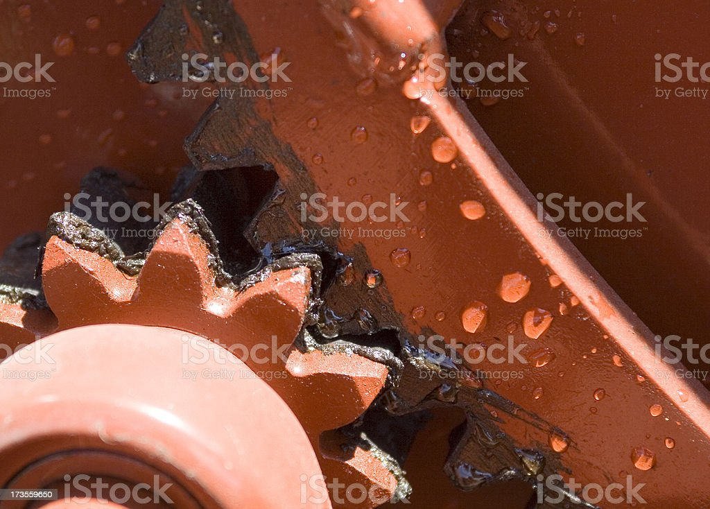 Greasy gears royalty-free stock photo
