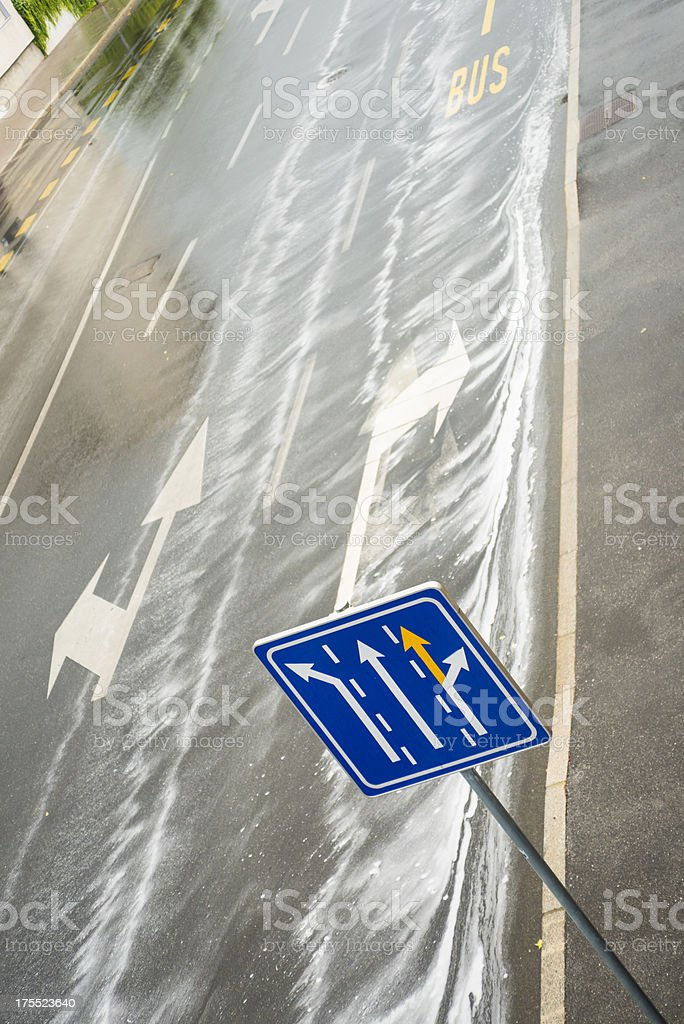 greasy road after the first rain royalty-free stock photo