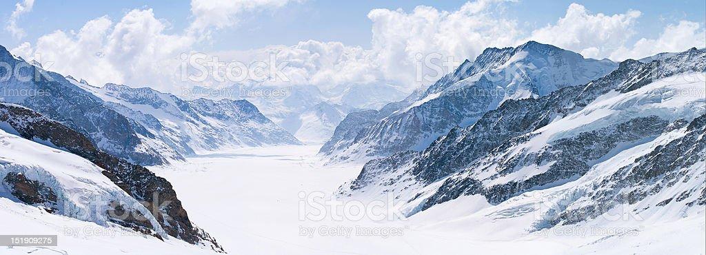 Great Aletsch Glacier Jungfrau Alps Switzerland royalty-free stock photo