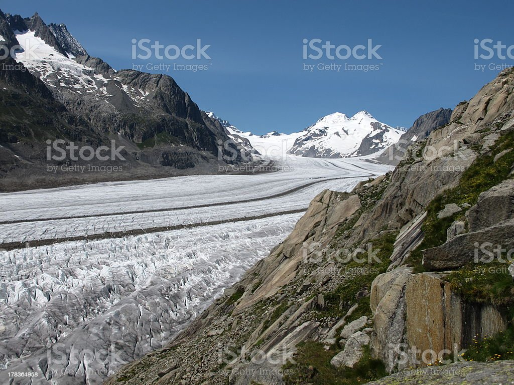 Great Aletsch Glacier royalty-free stock photo