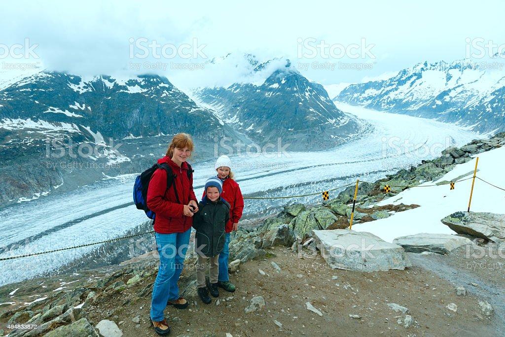 Great Aletsch Glacier (Bettmerhorn, Switzerland) stock photo