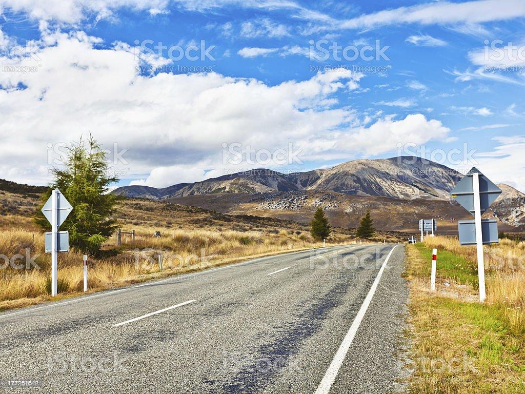 Great Alpine highway royalty-free stock photo