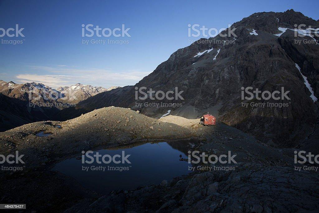 Great alpine scenery stock photo