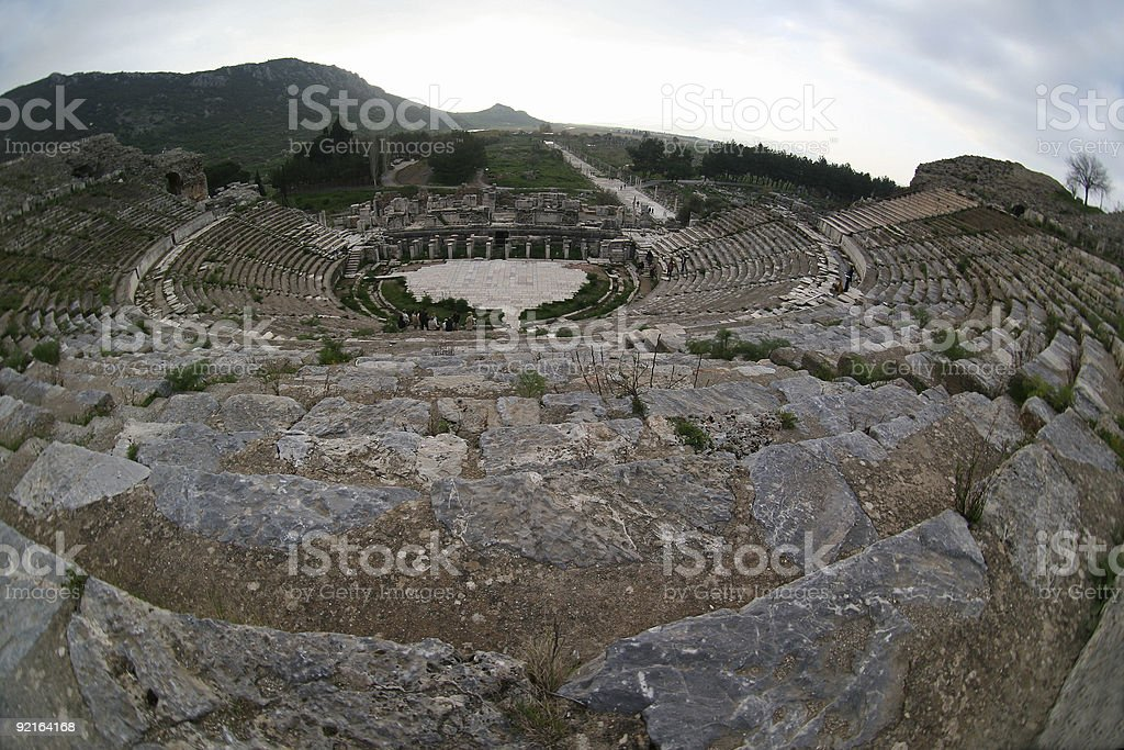 Great amphitheatre in Efes royalty-free stock photo