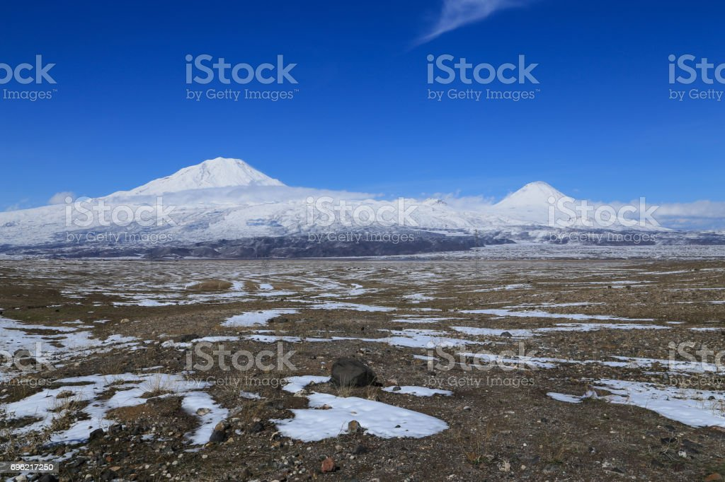 Great and little Ararat stock photo