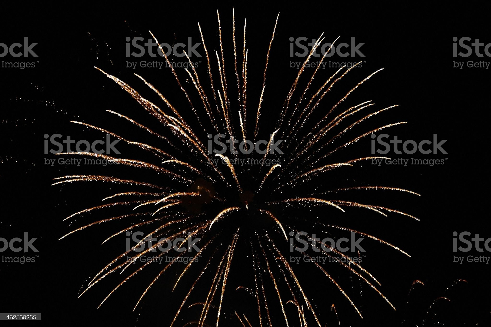 Great ball of fireworks royalty-free stock photo