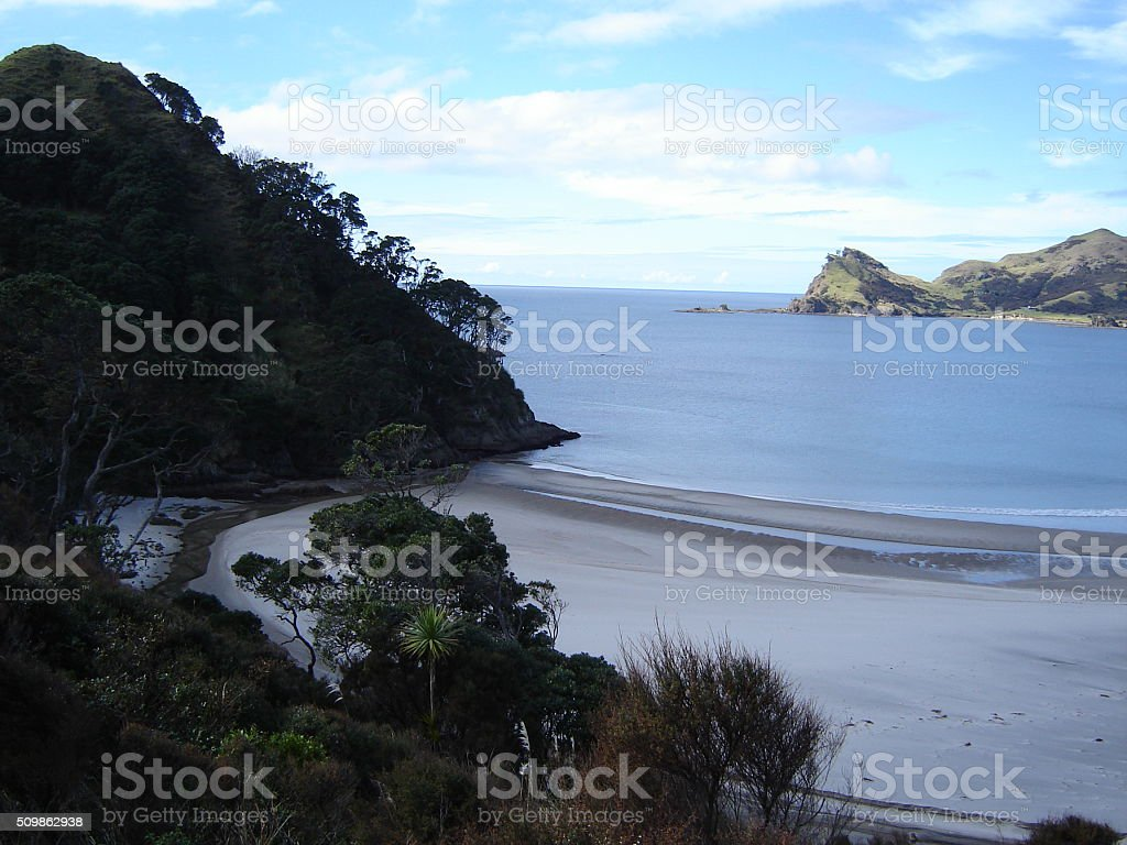 Great Barrier Island, Oruawharo Bay, New Zealand stock photo