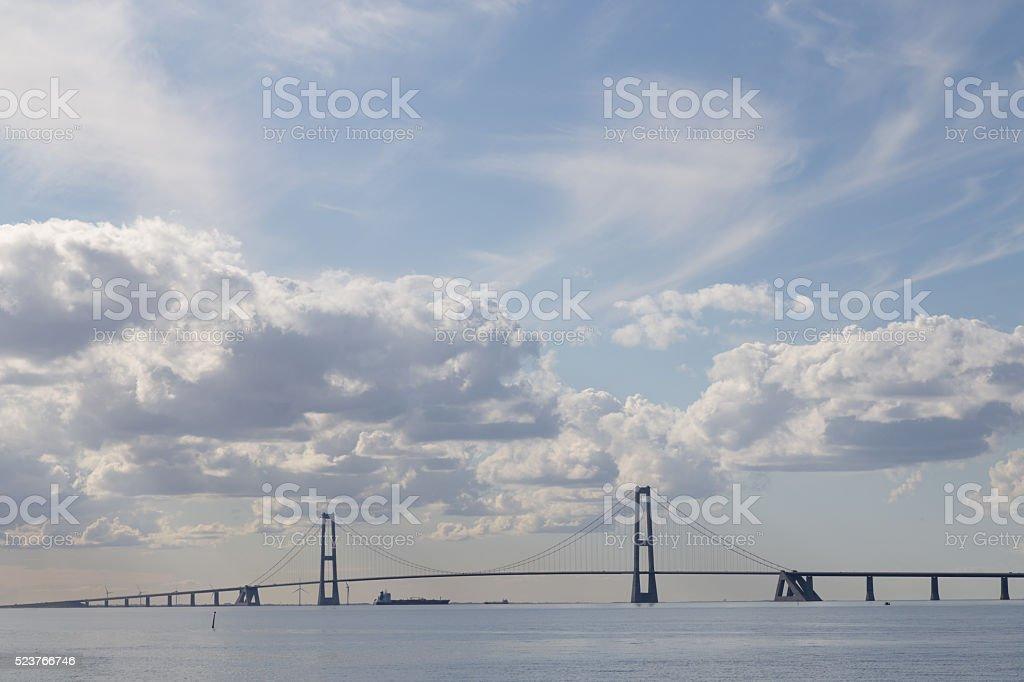 Great Belt Bridge in Denmark stock photo