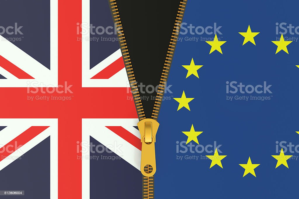 Great Britain and EU, Brexit referendum concept stock photo