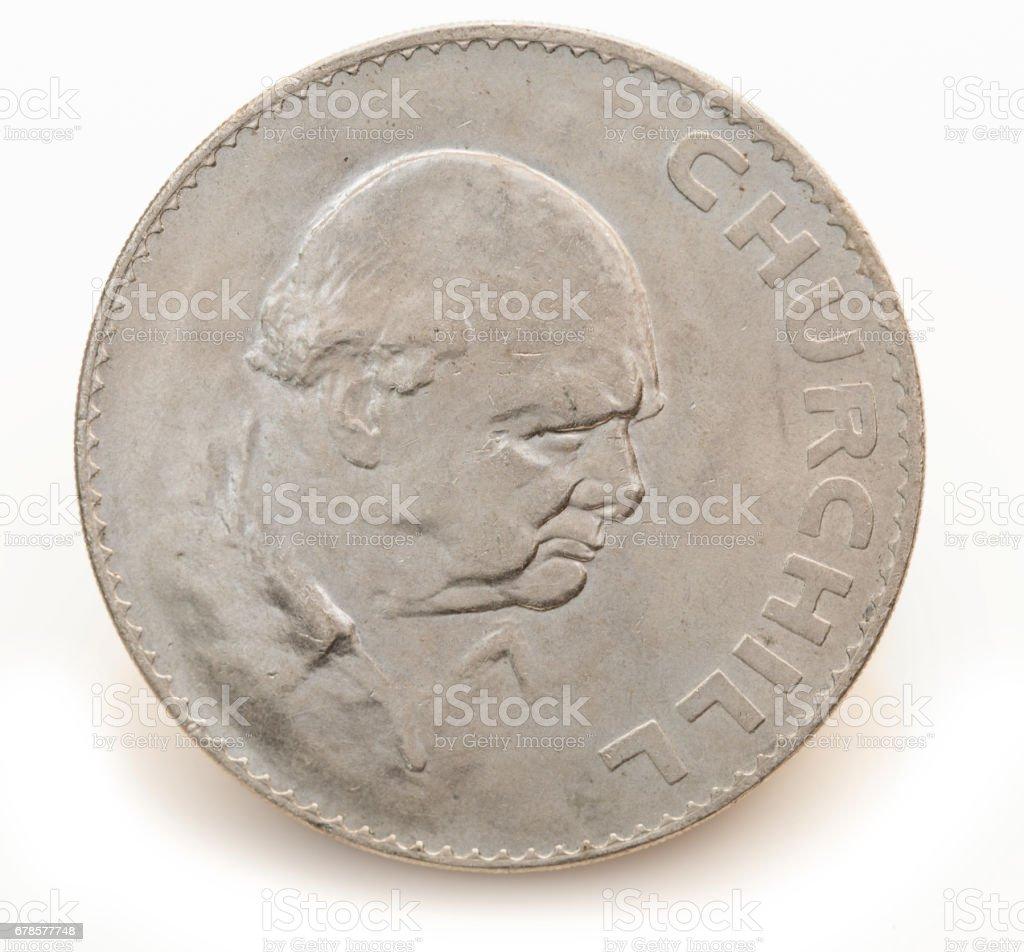 Great Britain Crown Winston Churchill 1965 stock photo