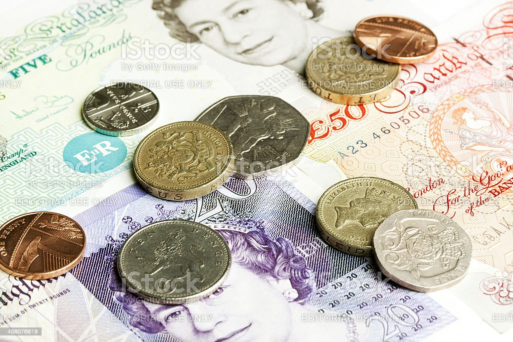 Great Britain currency royalty-free stock photo