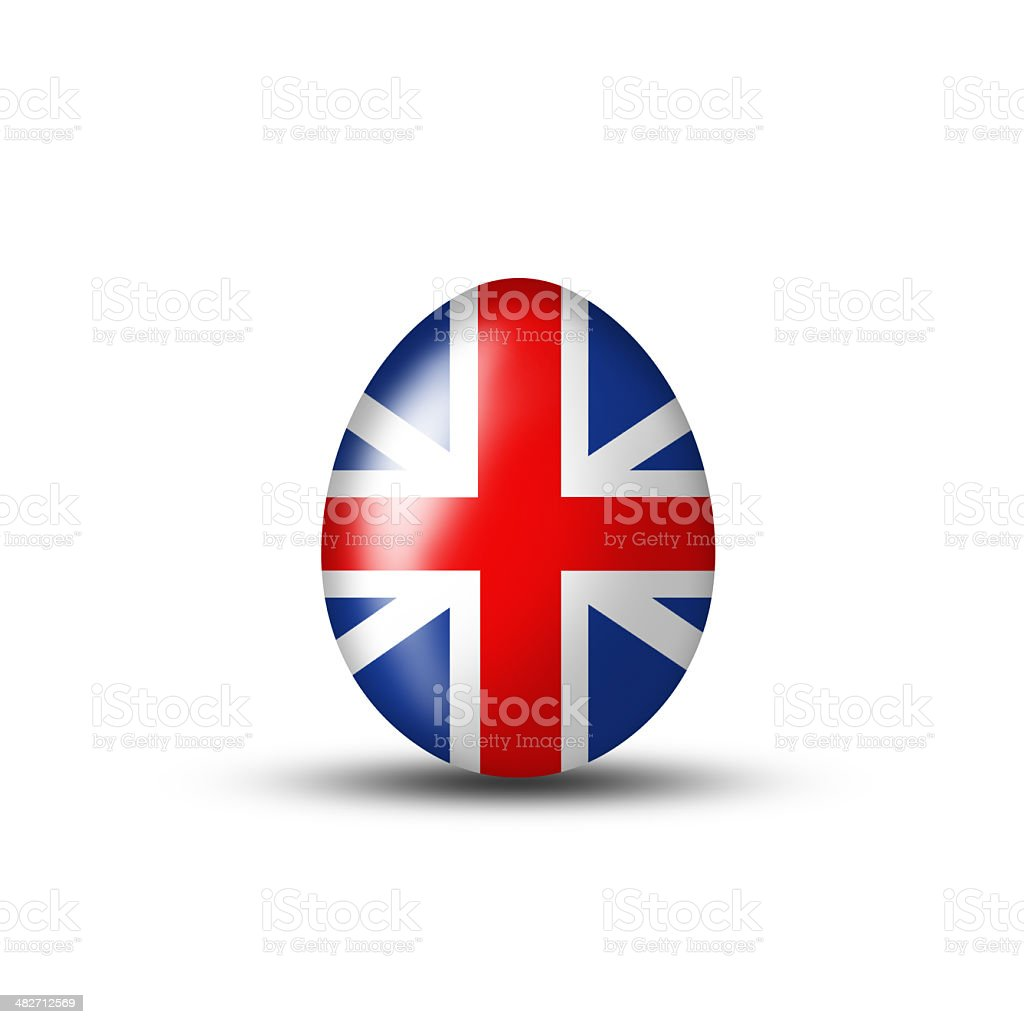 Great Britain Easter Egg stock photo