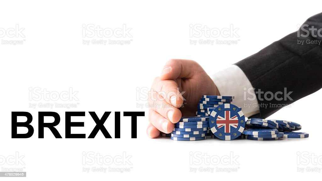 Great Britain leaves the euro zone stock photo