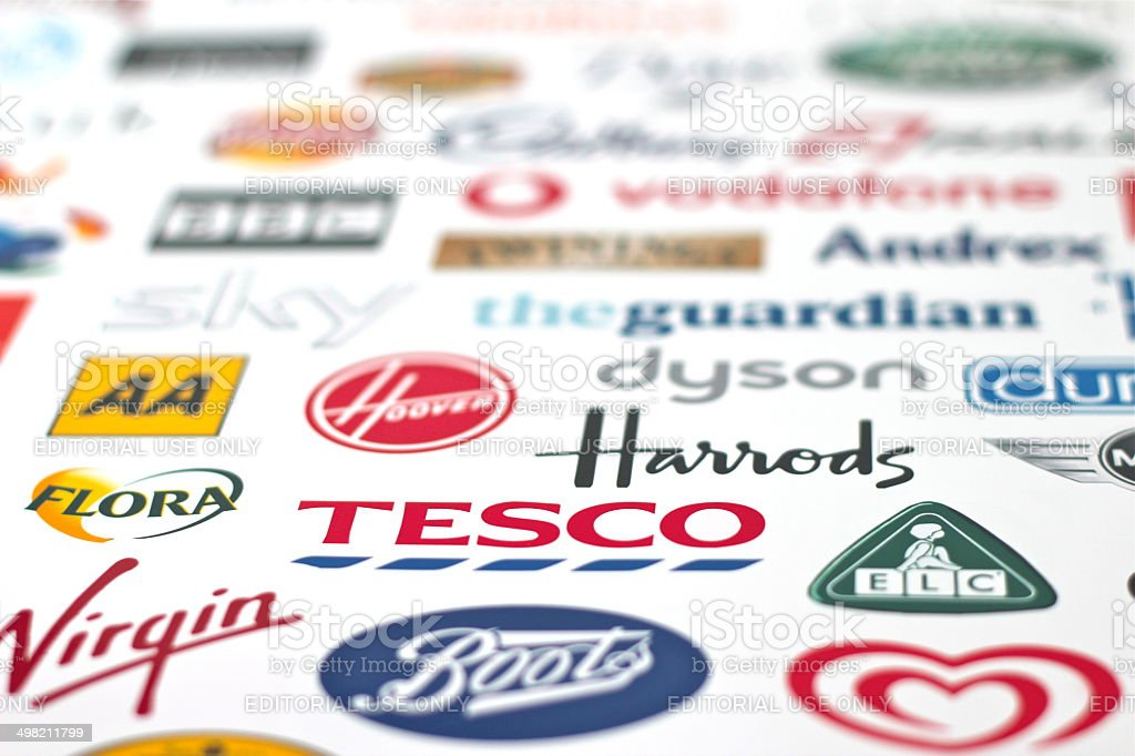 Great British Brands U.K. Logos stock photo