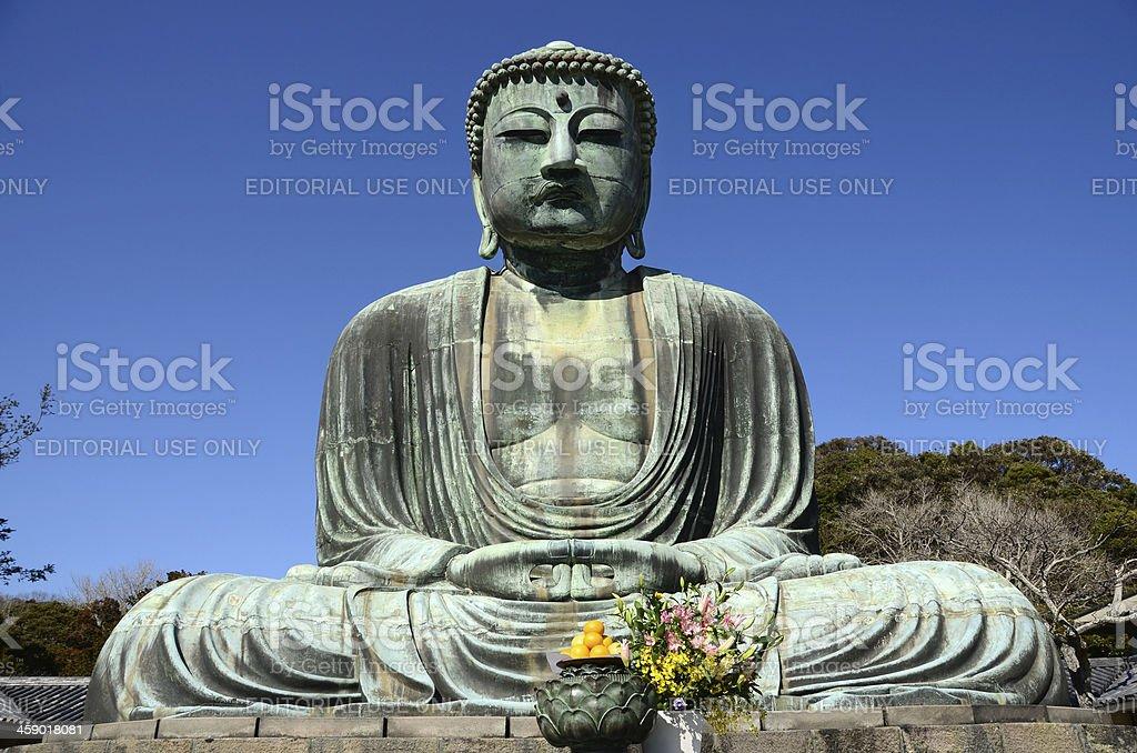 Great Buddha of Kamakira stock photo