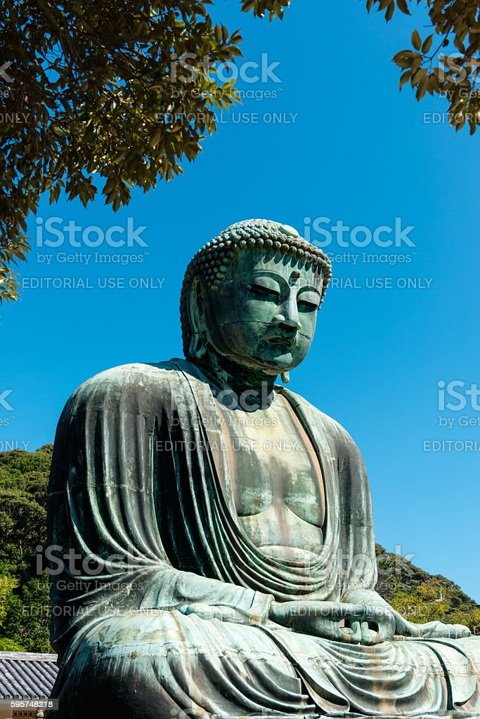 Great Buddha of Kamakura in Japan stock photo
