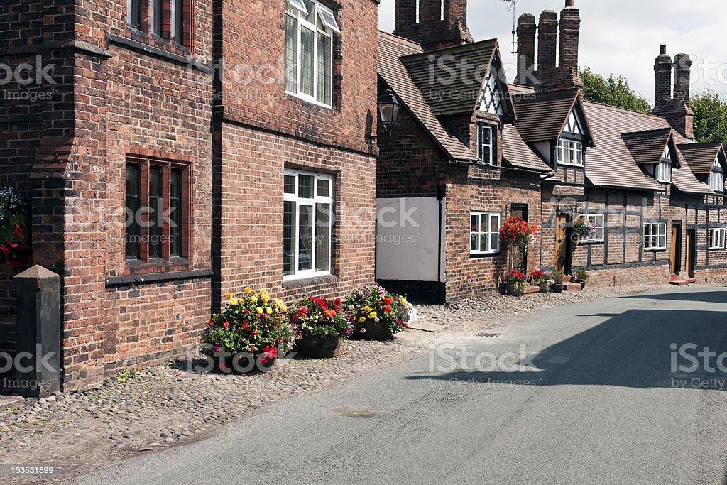 Great Budworth village, Cheshire. royalty-free stock photo