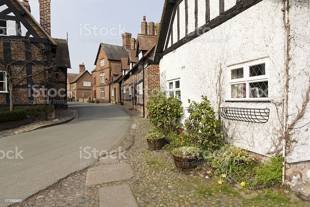 Great Budworth Village, Cheshire royalty-free stock photo