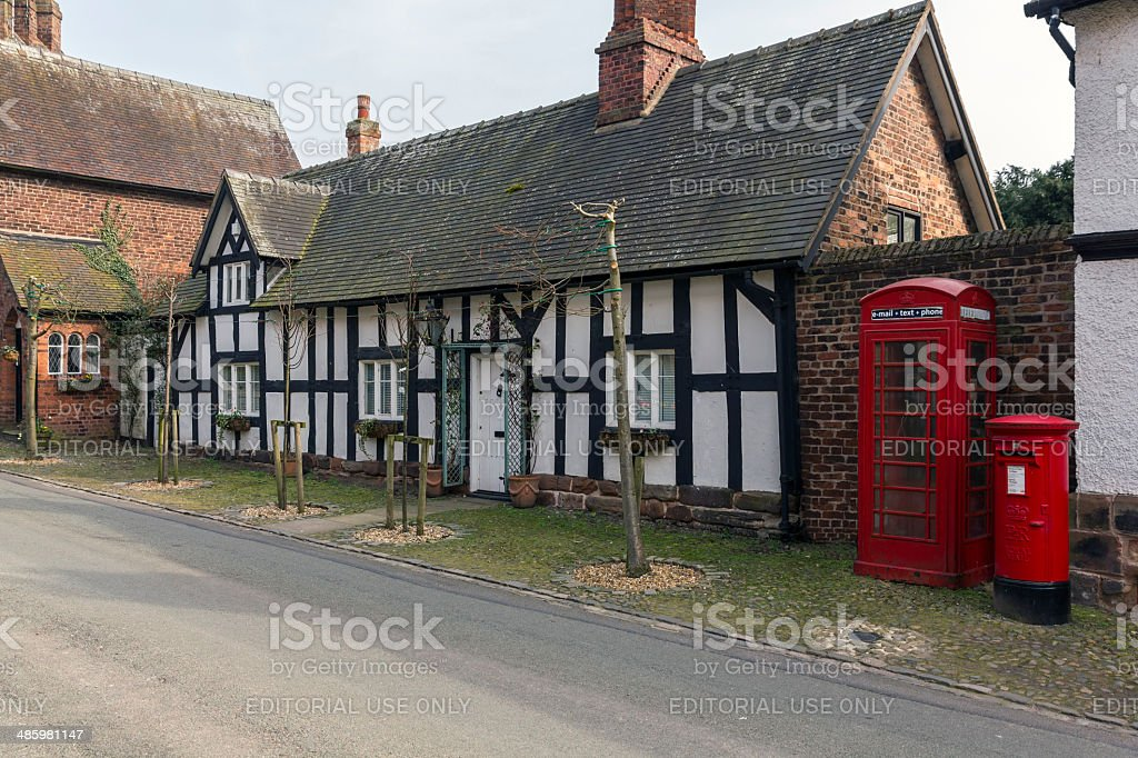 Great Budworth Village Cheshire stock photo