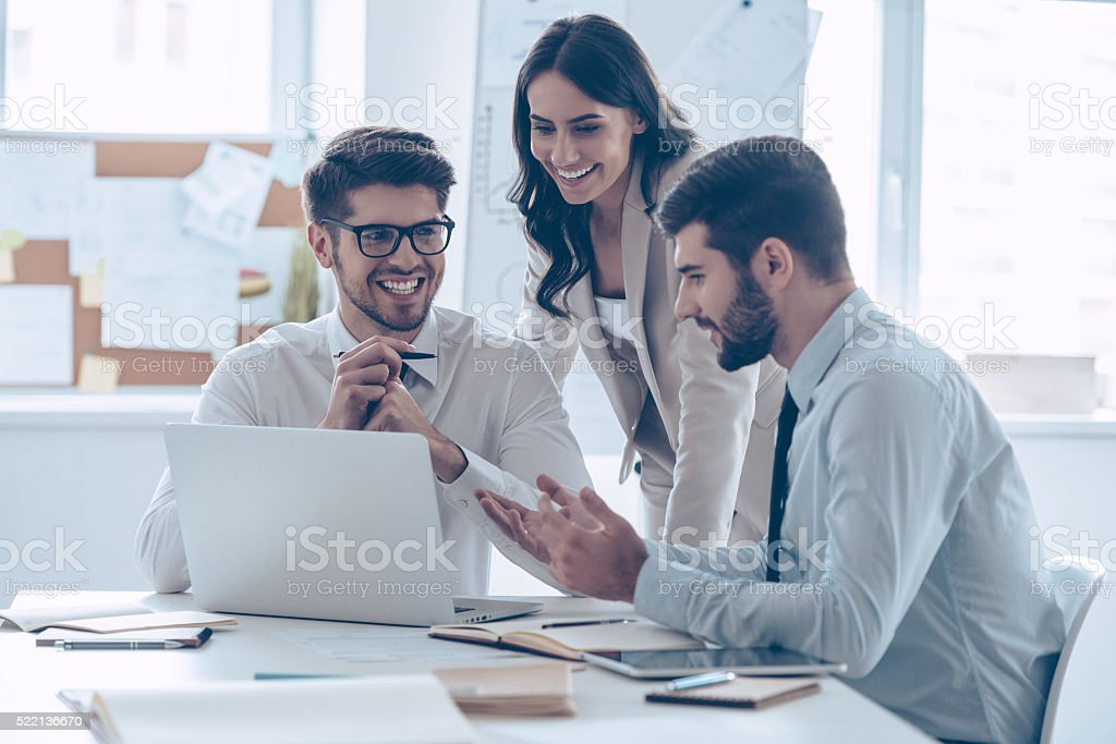 Great business meeting. stock photo