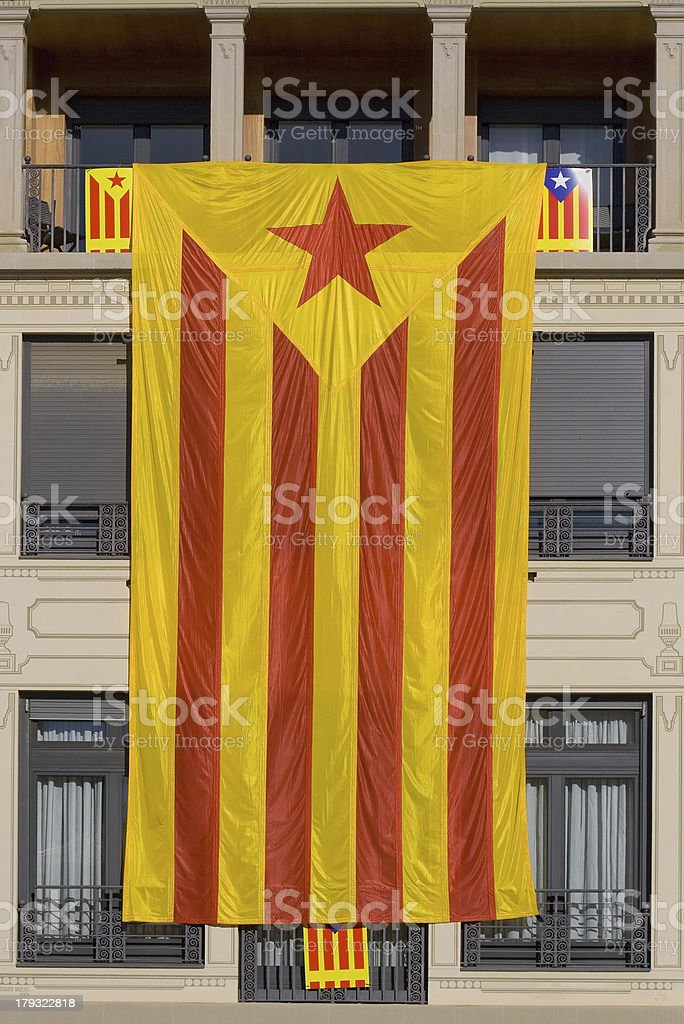 Great Catalan independentist flag royalty-free stock photo