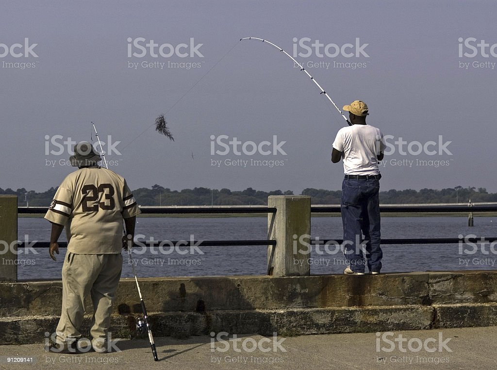 Great Catch royalty-free stock photo