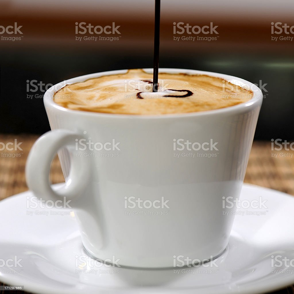 Great coffee with chocolate for relaxation royalty-free stock photo
