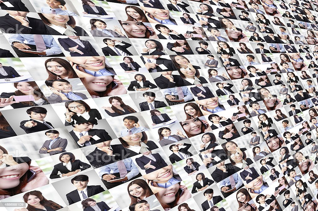 Great collage made by Business people group stock photo