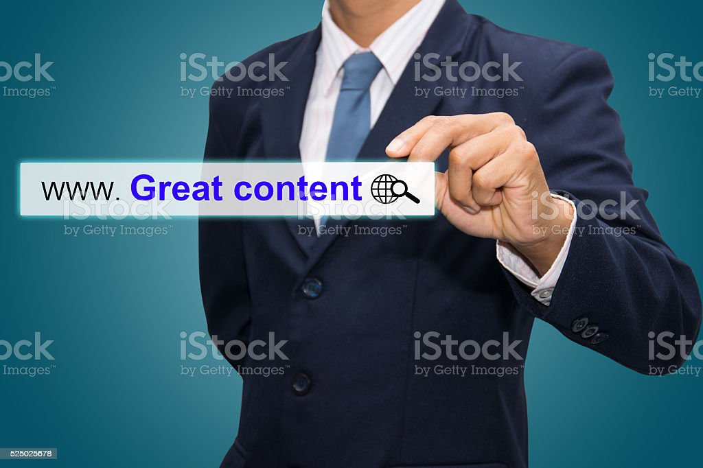 Great content stock photo
