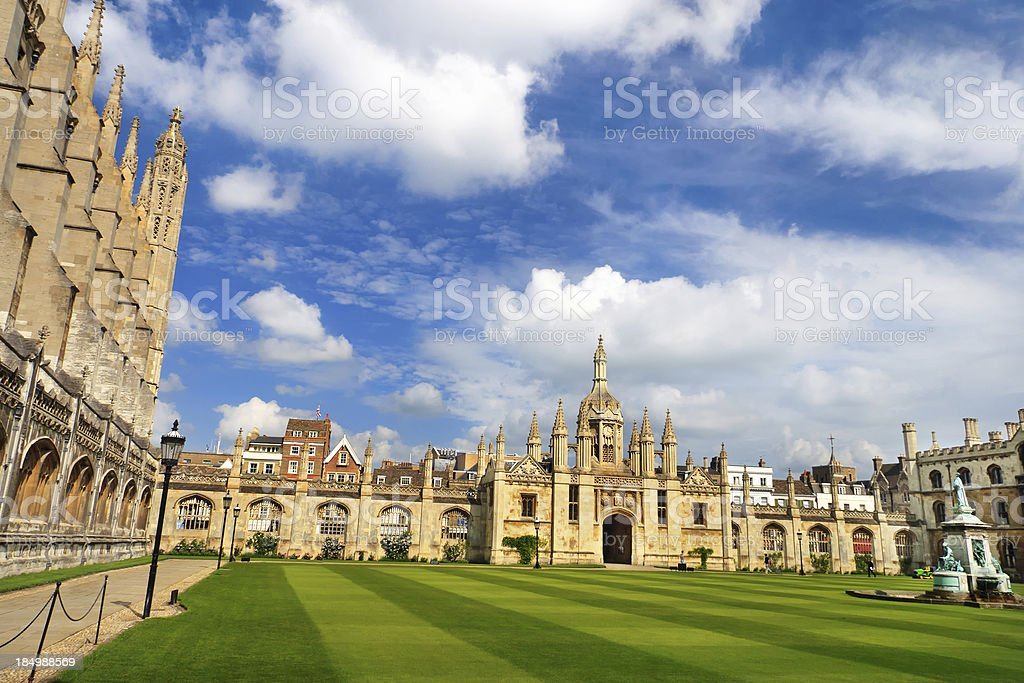 Great Court of Trinity College, Cambridge, UK stock photo